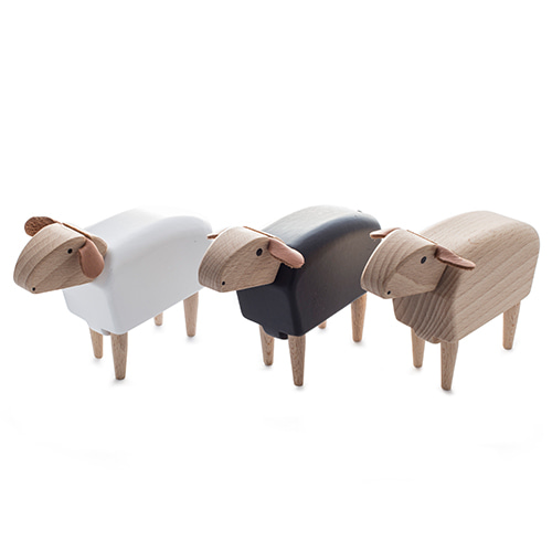 앞보는 미니양 비치우드 미니어쳐Crib-Sheep, beech wood, natural, white or blackmade in Germany