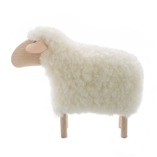 아기양(Q)Tiny Little Lamb, white furmade in Germany