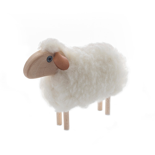 아기양(S)-화이트/블랙Tiny Sheep, white or brown furmade in Germany