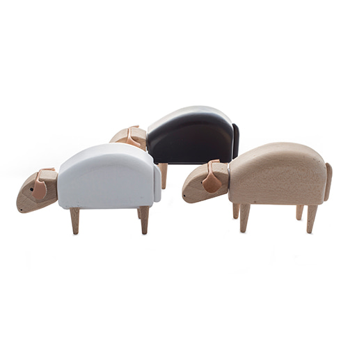 땅보는 미니양 비치우드 미니어쳐Crib-Sheep, Grazing, beech wood, natural, white or blackmade in Germany